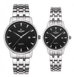 Đồng hồ cặp đôi SRWATCH SR1079.1101TE đen