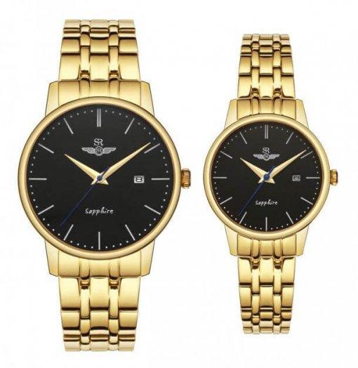 Đồng hồ cặp đôi SRWATCH SR1075.1401TE đen