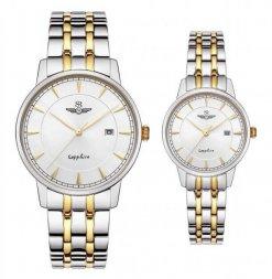 Đồng hồ cặp đôi SRWATCH SR1079.1202TE trắng