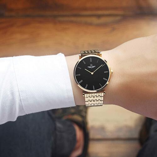 Đồng hồ nam SRWATCH SG8702.1401 đen đẹp