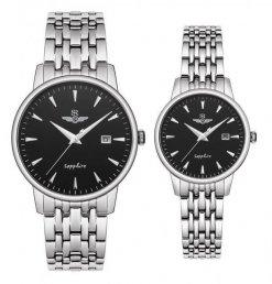 Đồng hồ cặp đôi SRWATCH SR1072.1101TE đen
