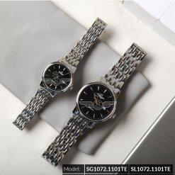 Đồng hồ cặp đôi SRWATCH SR1072.1101TE đen cao cấp