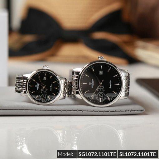 Đồng hồ cặp đôi SRWATCH SR1072.1101TE đen giá tốt