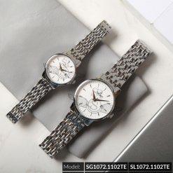 Đồng hồ cặp đôi SRWATCH SR1072.1102TE trắng cao cấp