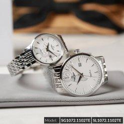 Đồng hồ cặp đôi SRWATCH SR1072.1102TE trắng chính hãng