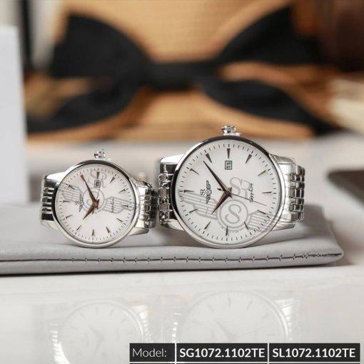 Đồng hồ cặp đôi SRWATCH SR1072.1102TE trắng giá tốt