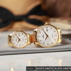 Đồng hồ cặp đôi SRWATCH SR1072.1402TE trắng giá tốt