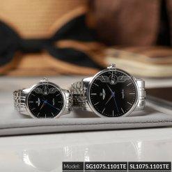 Đồng hồ cặp đôi SRWATCH SR1075.1101TE đen giá tốt