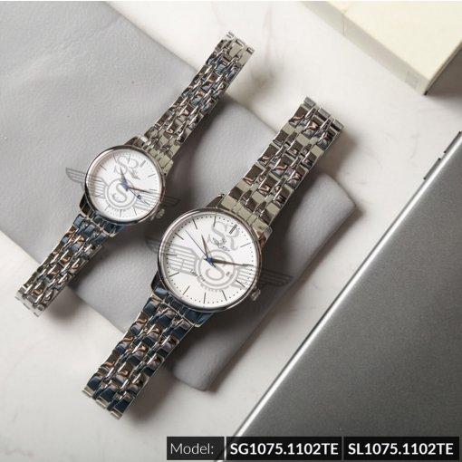Đồng hồ cặp đôi SRWATCH SR1075.1102TE trắng cao cấp
