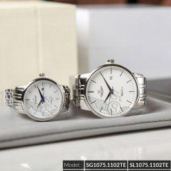 Đồng hồ cặp đôi SRWATCH SR1075.1102TE trắng giá tốt