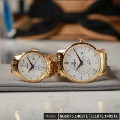 Đồng hồ cặp đôi SRWATCH SR1075.1402TE trắng giá tốt