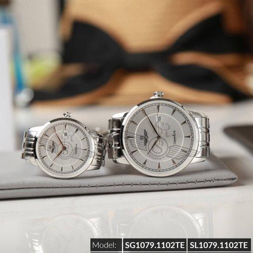 Đồng hồ cặp đôi SRWATCH SR1079.1102TE trắng giá tốt