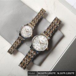 Đồng hồ cặp đôi SRWATCH SR1079.1202TE trắng cao cấp