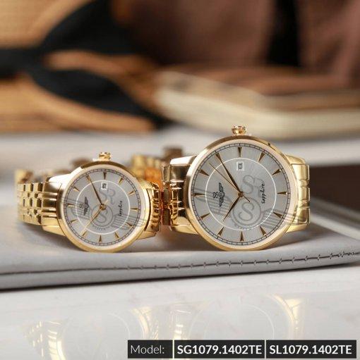 Đồng hồ cặp đôi SRWATCH SR1079.1402TE trắng giá tốt