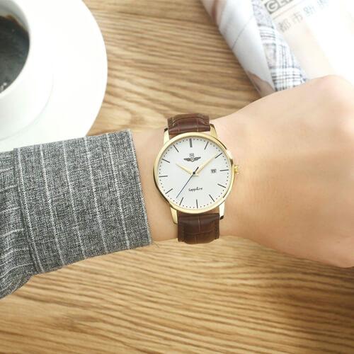 Đồng hồ nam Srwatch SG1055-4602 Timepiece trắng cao cấp