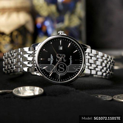 Đồng hồ nam SRWATCH SG1072.1101TE TIMEPIECE đen mạnh mẽ