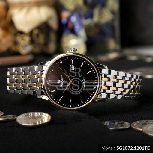 Đồng hồ nam SRWATCH SG1072.1201TE TIMEPIECE đen cao cấp