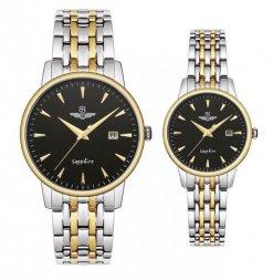 Đồng hồ cặp đôi SRWATCH SR1072.1201TE đen