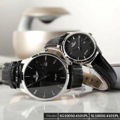 Đồng hồ cặp đôi SRWATCH SR10050.4101PL đen-1