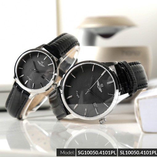 Đồng hồ cặp đôi SRWATCH SR10050.4101PL đen-2