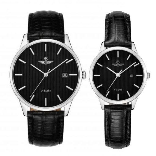 Đồng hồ cặp đôi SRWATCH SR10050.4101PL đen