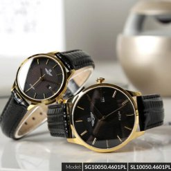 Đồng hồ cặp đôi SRWATCH SR10050.4601PL đen-1