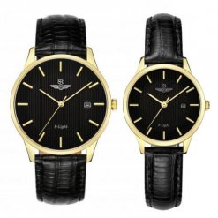 Đồng hồ cặp đôi SRWATCH SR10050.4601PL đen