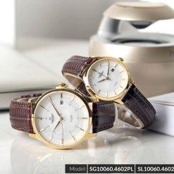 Đồng hồ cặp đôi SRWATCH SR10060.4602PL trắng-2