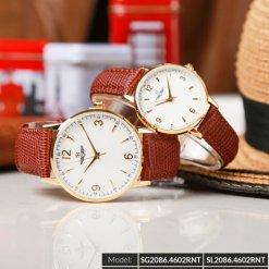Đồng hồ đôi SRWATCH SR2086.4602RNT trắng-1