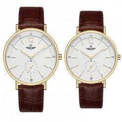 Đồng hồ cặp đôi SRWATCH SR2087.4602RNT trắng
