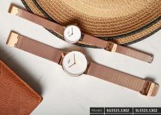 Đồng hồ cặp đôi SRWATCH SR5521.1302 trắng-1