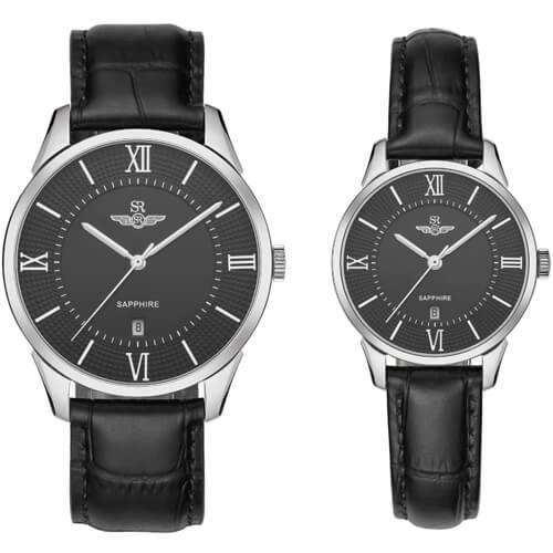 Đồng hồ cặp đôi SRWATCH SR80050.4101CF đen