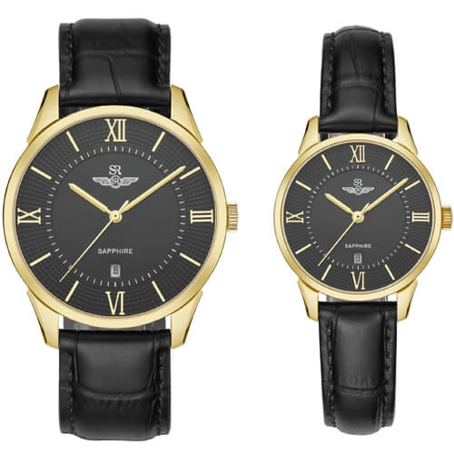 Đồng hồ cặp đôi SRWATCH SR80050.4601CF đen