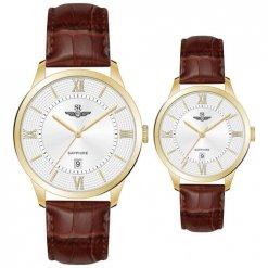 Đồng hồ cặp đôi SRWATCH SR80050.4602CF trắng