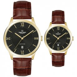 Đồng hồ cặp đôi SRWATCH SR80050.6103CF đen