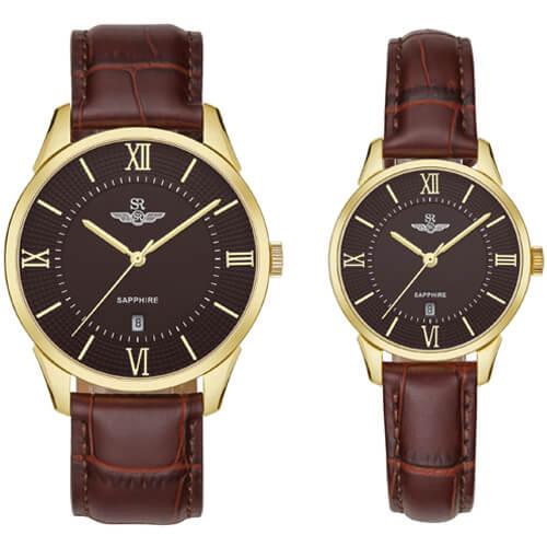Đồng hồ cặp đôi SRWATCH SR80050.6103CF nâu