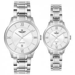 Đồng hồ cặp đôi SRWATCH SR80051.1102CF trắng