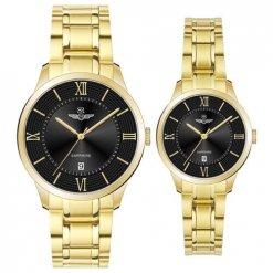 Đồng hồ cặp đôi SRWATCH SR80051.1401CF đen