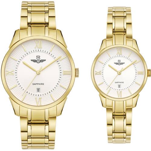 Đồng hồ cặp đôi SRWATCH SR80051.1402CF trắng