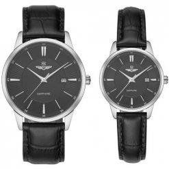 Đồng hồ cặp đôi SRWATCH SR80060.4101CF đen