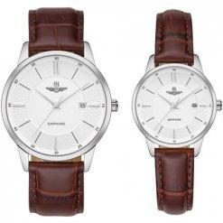 Đồng hồ cặp đôi SRWATCH SR80060.4102CF trắng