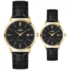 Đồng hồ cặp đôi SRWATCH SR80060.4601CF đen