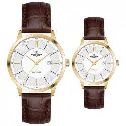 Đồng hồ cặp đôi SRWATCH SR80060.4602CF trắng