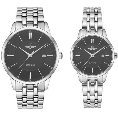 Đồng hồ cặp đôi SRWATCH SR80061.1101CF đen