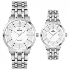 Đồng hồ cặp đôi SRWATCH SR80061.1102CF trắng