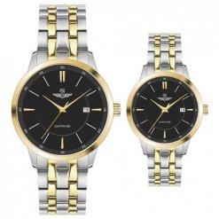 Đồng hồ cặp đôi SRWATCH SR80061.1201CF đen