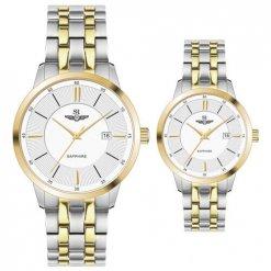 Đồng hồ cặp đôi SRWATCH SR80061.1202CF trắng