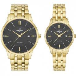 Đồng hồ cặp đôi SRWATCH SR80061.1401CF đen