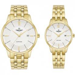 Đồng hồ cặp đôi SRWATCH SR80061.1402CF trắng
