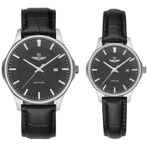 Đồng hồ cặp đôi SRWATCH SR80070.4101CF đen